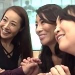 電車のボックスシートで3人組の巨乳な美熟女人妻たちと遭遇!美痴女マダム達とエロい事に!北島玲 桐島美奈子 森下美緒