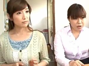 セクシー下着姿の嫁の母!モーレツ美魔女な嫁の母に中出し!近親相姦!松井優子